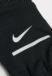 Nike Performance - HEATHERED SPHERE RUNNING GLOVES - Fingervantar - black/silver - 5