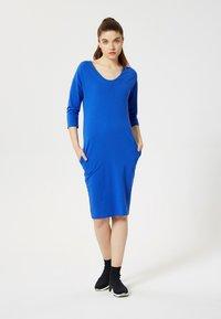 Talence - Vestito di maglina - bleu barbeau - 1