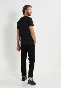 Pier One - 2 PACK - Basic T-shirt - black - 3