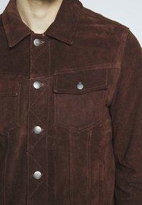 Goosecraft - MOJAVE DESERT - Veste en cuir - rodeo brown - 5
