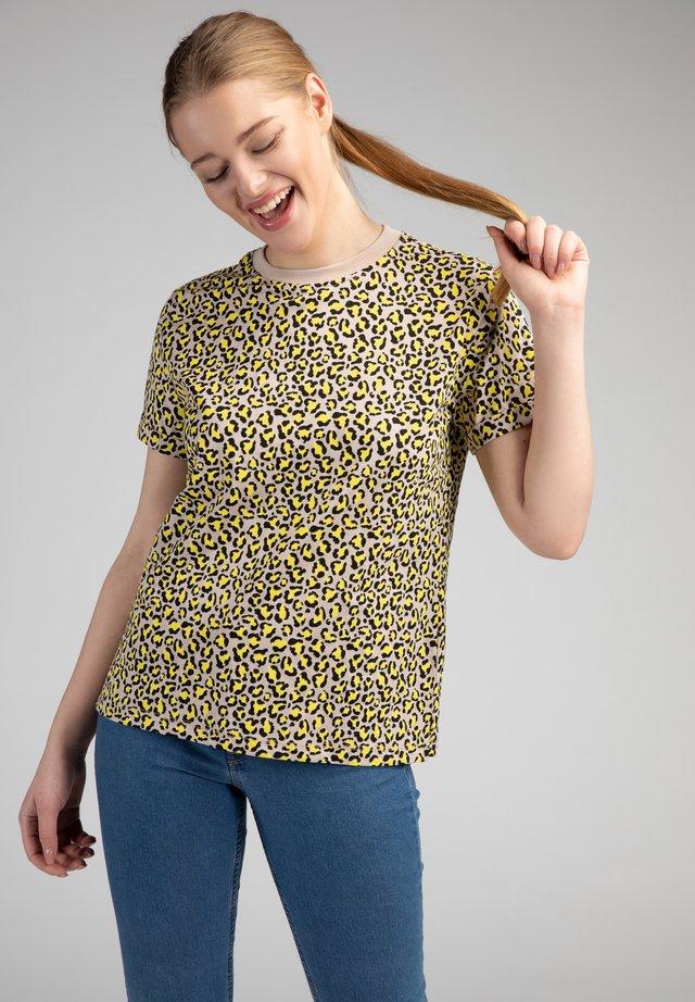 T-shirt con stampa - gelb