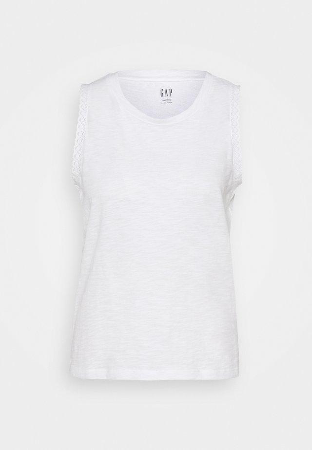 TRIM TANK - T-shirts - white