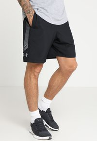 Under Armour - GRAPHIC SHORTS - Urheilushortsit - black/steel - 0