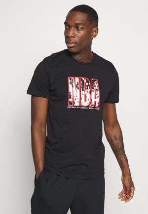 NBA ERROR INFILL TEE - Article de supporter - black