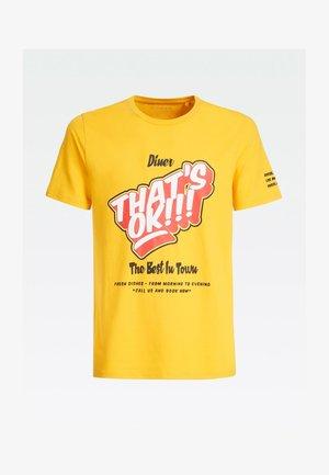 T-shirt imprimé - mehrfarbig  gelb