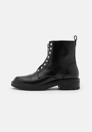 VALENTINA - Lace-up ankle boots - black garda/silver