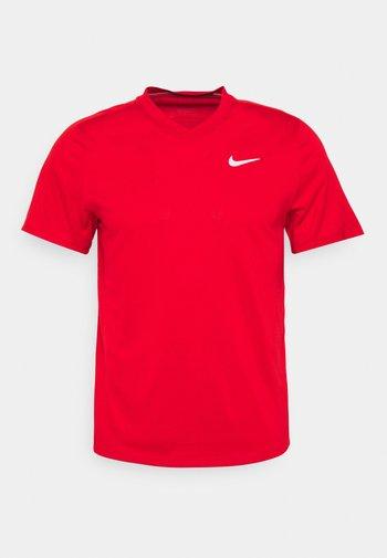 Jednoduché triko - university red/white