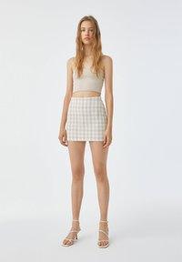 PULL&BEAR - Mini skirt - sand - 1