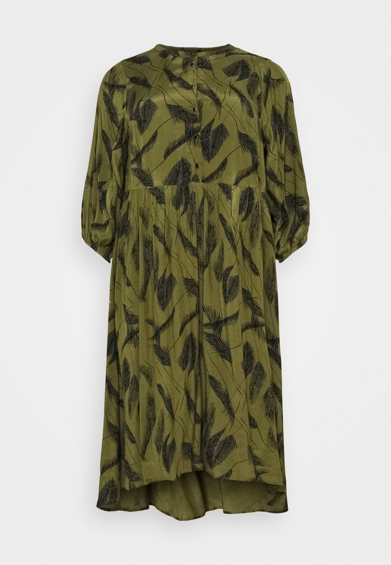 Kaffe Curve - DARLA DRESS - Day dress - capulet olive