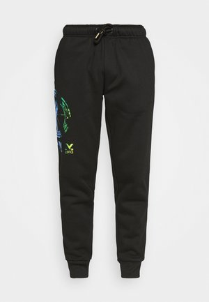 HOSE MIT IRISIERENDEM PRINT UNISEX - Teplákové kalhoty - black reflective