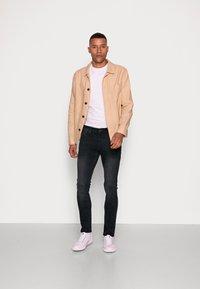 TOM TAILOR DENIM - CULVER STRETCH - Jeans Skinny Fit - used dark stone black/denim grey - 1