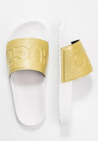 HUGO - TIMEOUT SLID - Pantofle - white - 3