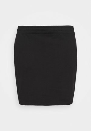 BASIC - Mini sweat skirt - Minisukně - black