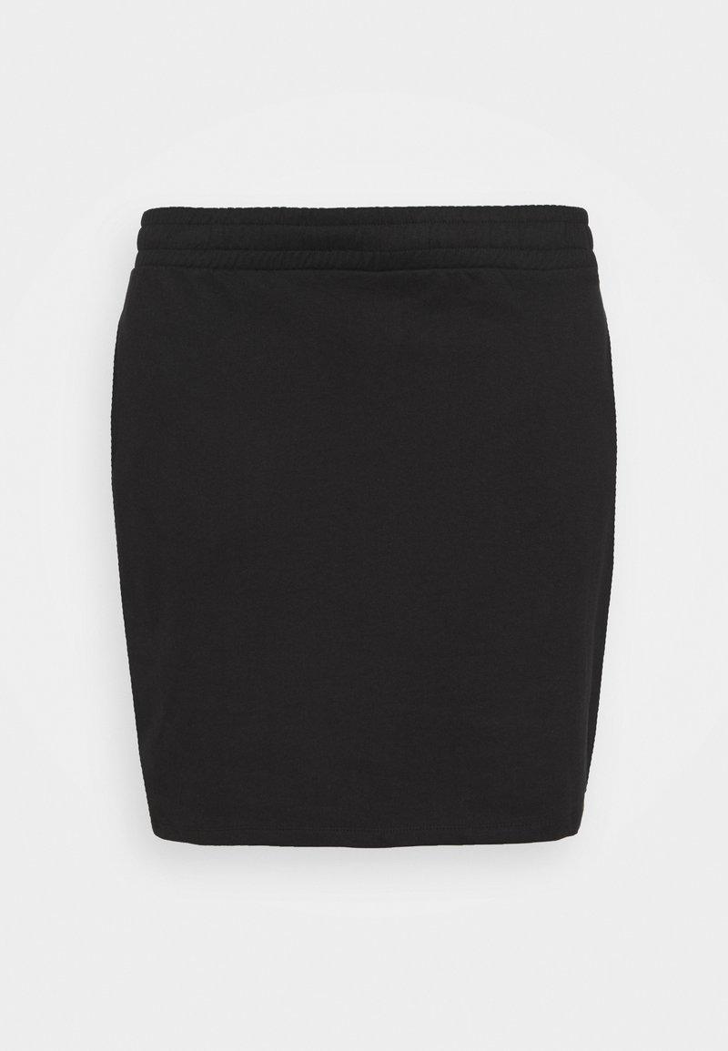 Even&Odd - BASIC - Mini sweat skirt - Mini skirt - black