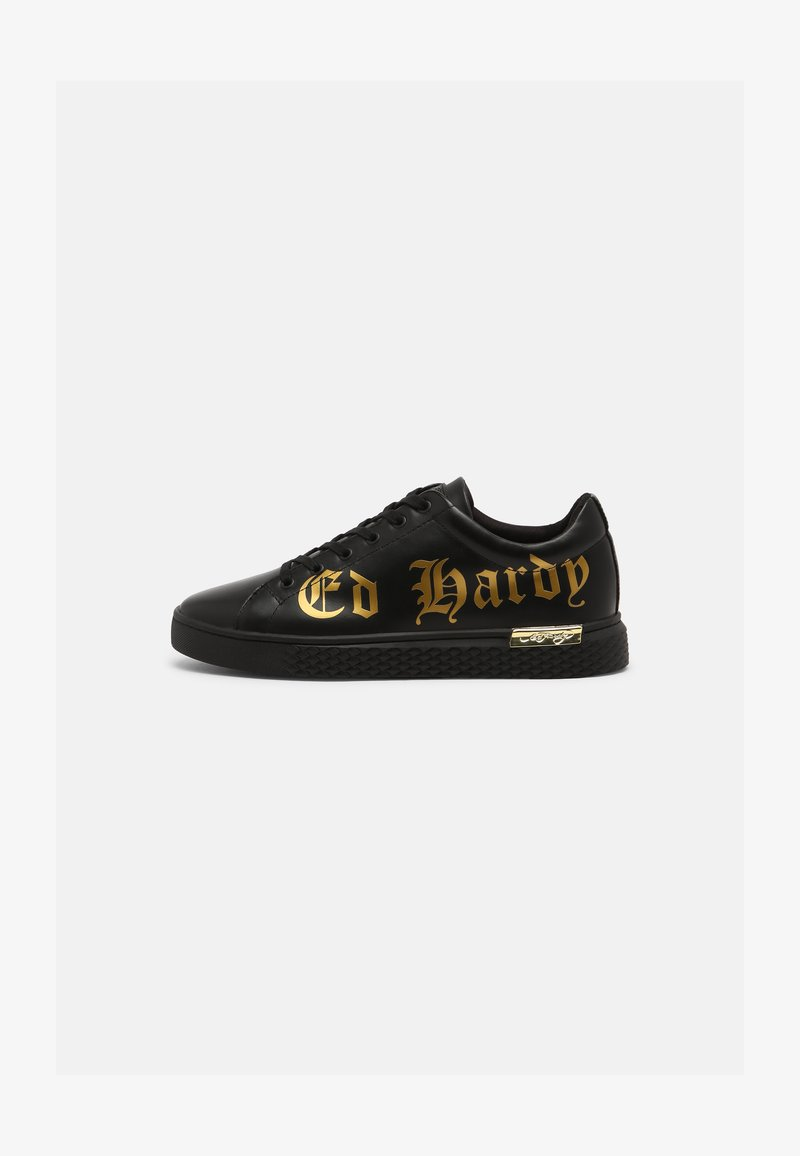 Ed Hardy - SCRIPT TOP - Trainers - black/gold