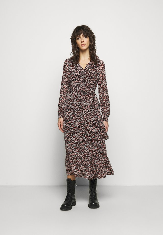 DAINTY BLOOM WRAP - Day dress - dark ruby