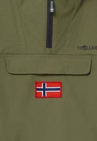 TrollKids - KIRKENES - Ski jacket - khaki green/anthracite - 4