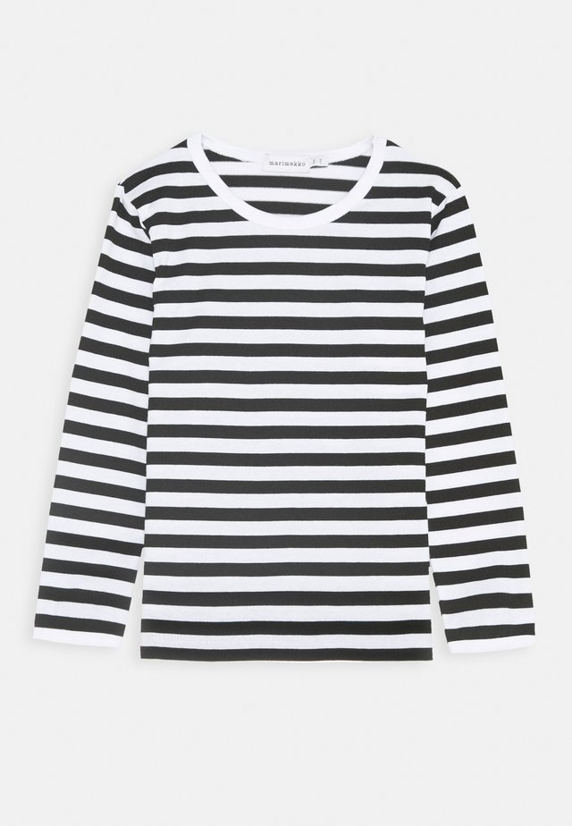 LASTEN PITKÄHIHA - Long sleeved top - white/black