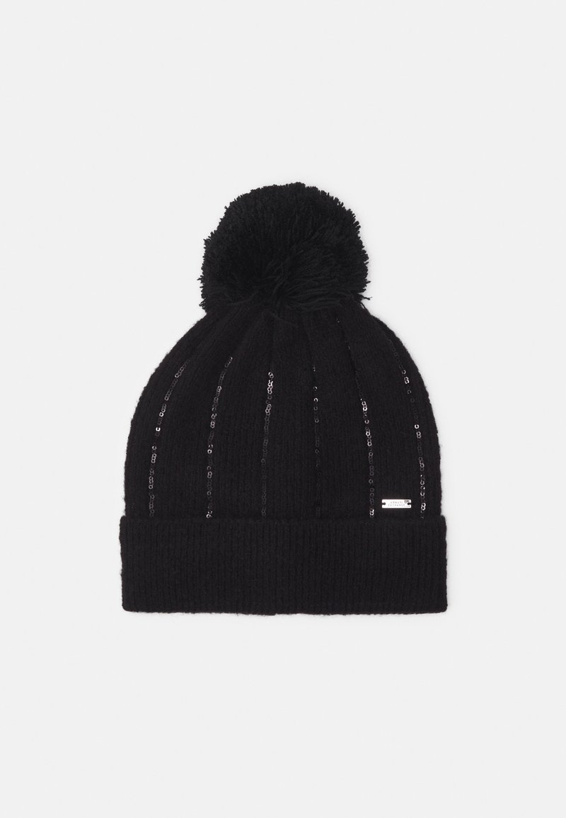 Armani Exchange - BEANIE HAT - Beanie - black