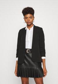 New Look - NAPLES RUCHED - Blazer - black - 0
