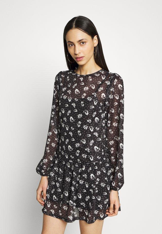DOT  - Korte jurk - black