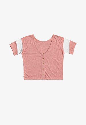 Print T-shirt - ash rose