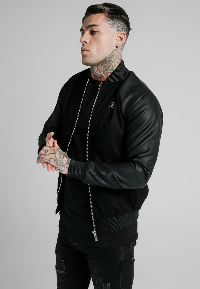 SIKSILK - DETECT - Bomber Jacket - black