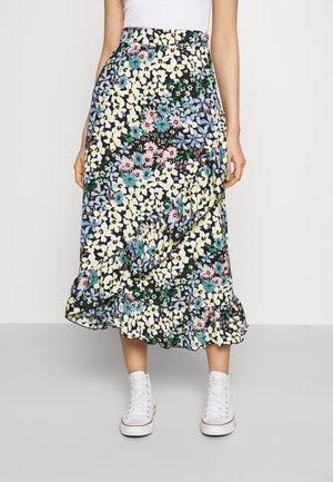 ONLSAGA WRAP SKIRT - Maxi skirt - phantom
