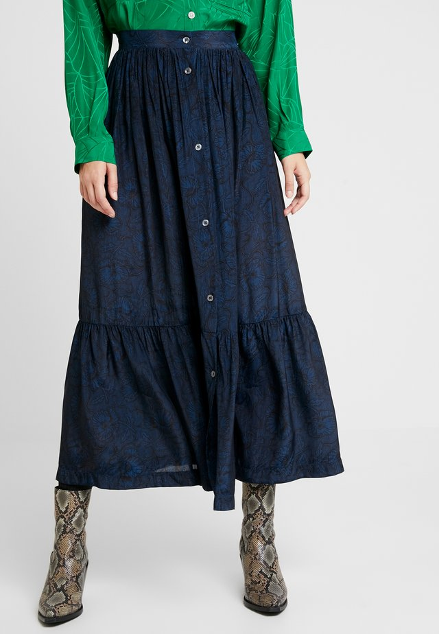 FRANGINE - Maxi skirt - navy
