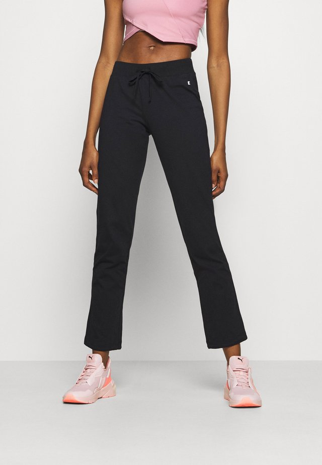DRAWSTRING PANTS - Verryttelyhousut - black