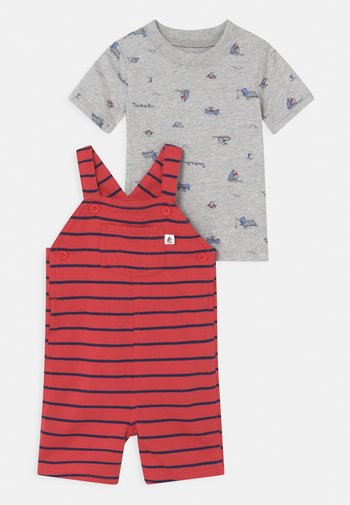 STRIPE SET - Print T-shirt - red