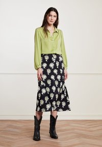 Fabienne Chapot - CLAIRE - A-line skirt - black  pistache - 0