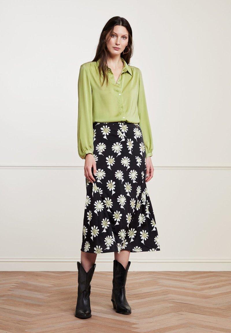 Fabienne Chapot - CLAIRE - A-line skirt - black  pistache
