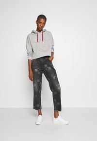 Desigual - MERY MICKEY - Jean boyfriend - denim black - 1