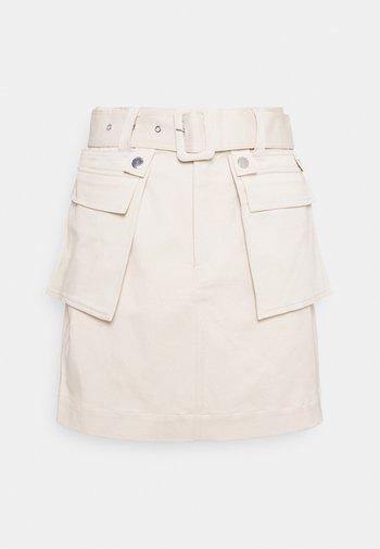 RANDI - Pencil skirt - ivory bone