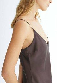 Massimo Dutti - Jersey dress - dark purple - 2