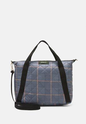DAY GWENETH CHECKY CROSS - Shopping bag - blue fog