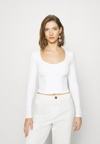Monki - VINNIE  - Long sleeved top - solid offwhite - 0
