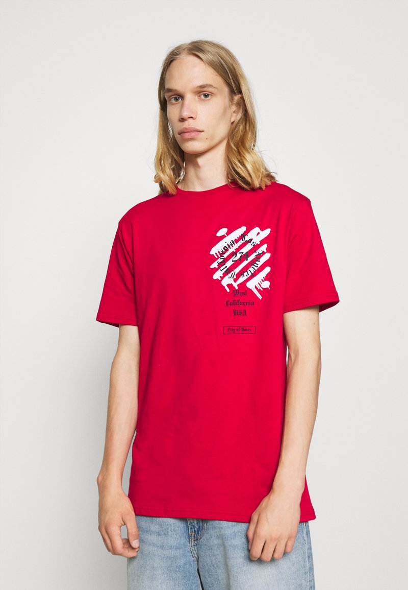 274 - WEST TEE - Print T-shirt - red