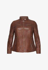 No.1 by Ox - Leather jacket - dark cognac - 3