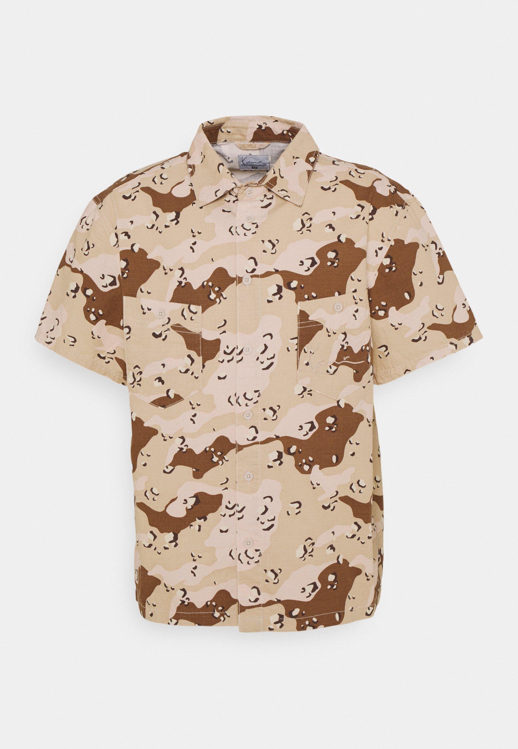 Men SMALL SIGNATURE WASHED CAMO RESORT SHIRT - Shirt