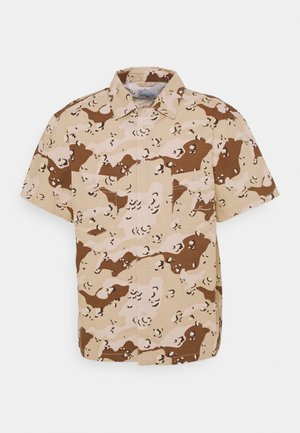SMALL SIGNATURE WASHED CAMO RESORT SHIRT - Shirt - sand