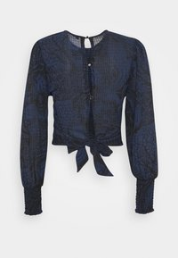 Scotch & Soda - STORYTELLING FITTED TOP WITH SMOCKED DETAILING - Blůza - dark blue - 1