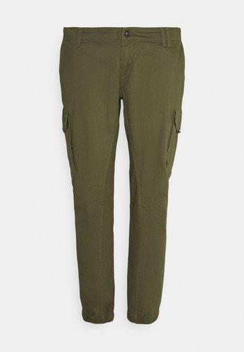 JJIPAUL JJFLAKE - Pantaloni cargo - olive night