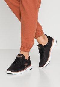 Skechers Sport - FLEX APPEAL 3.0 - Sneaker low - black/rose gold - 0