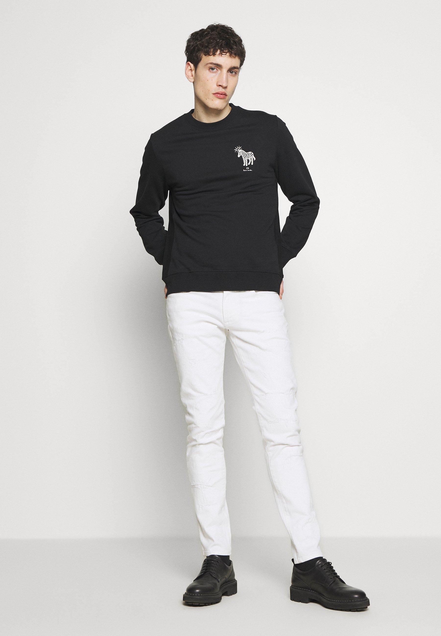 PS Paul Smith MENS HALO ZEBRA - Sweatshirt - black