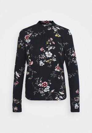 DIBA TURTLENECK - T-shirt à manches longues - black/white