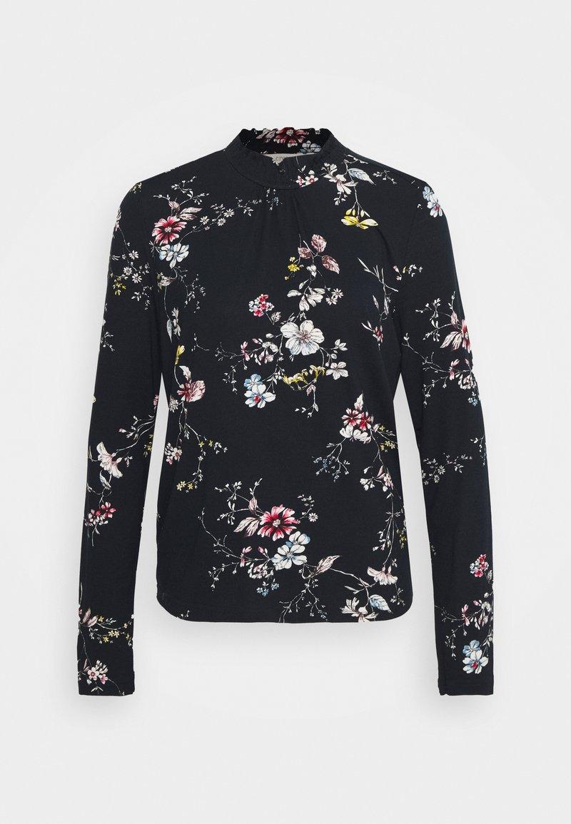 Cream - DIBA TURTLENECK - Long sleeved top - black/white