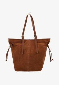 mint&berry - LEATHER - Shopping bag - cognac - 5