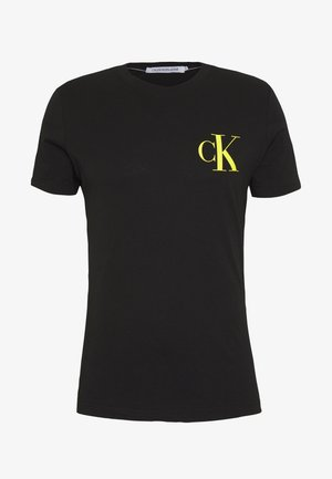 INSTIT POP LOGO SLIM TEE - T-shirt med print - black